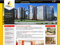 Internet site of the residential complex Casa Mea of building company Maxmod imobil S.R.L.