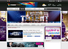 Web Portal of show Moldova are Talent